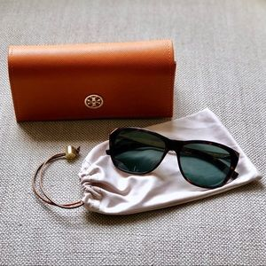 Tory Burch Tortoise & Gold Cat Eye Sunglasses